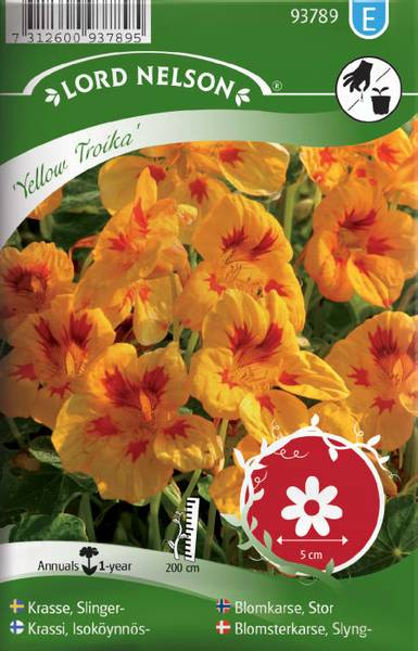 Blomkarse 'Yellow Troika' - Tropaeolum majus