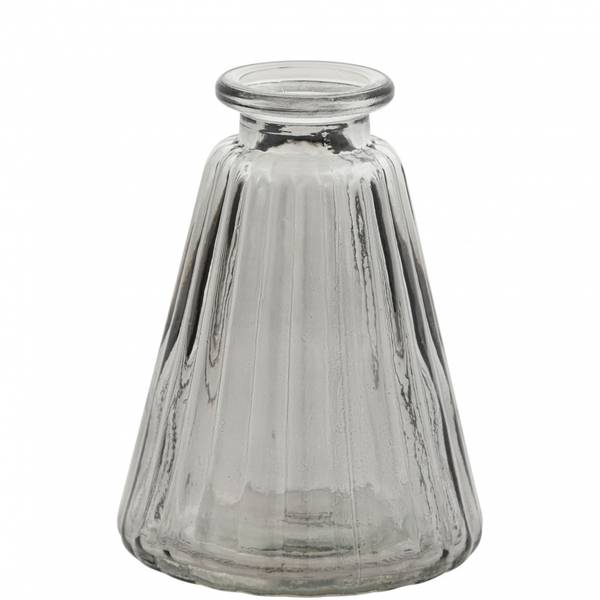 Minivase, kjegle grå 10 cm