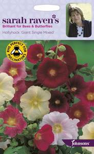 Bilde av Stokkrose 'Giant Single Mixed' - Alcea rosea