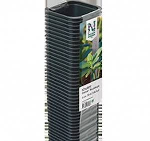 Bilde av Plastpotte firkantet 7 cm 8 cm dyp - 25 pk