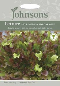 Bilde av Salat, Eikeblad- 'Red & Green Salad Bowl Mixed' - Lactuca