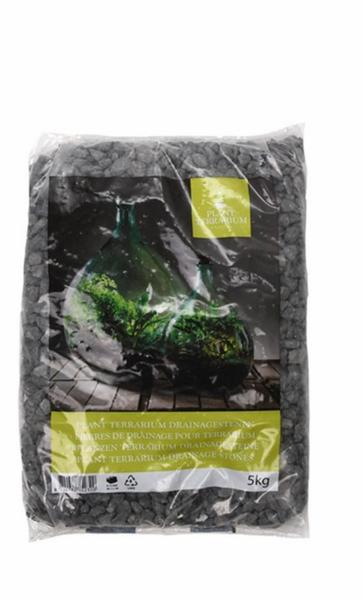 Pyntegrus til terrarium, svart/grå 5 kg
