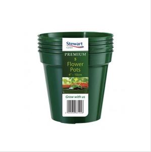 Bilde av Plastpotte 12,7 cm, 5 pk, grønn